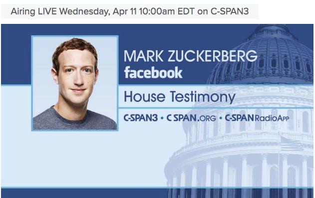 how to watch zuckerberg house testimony