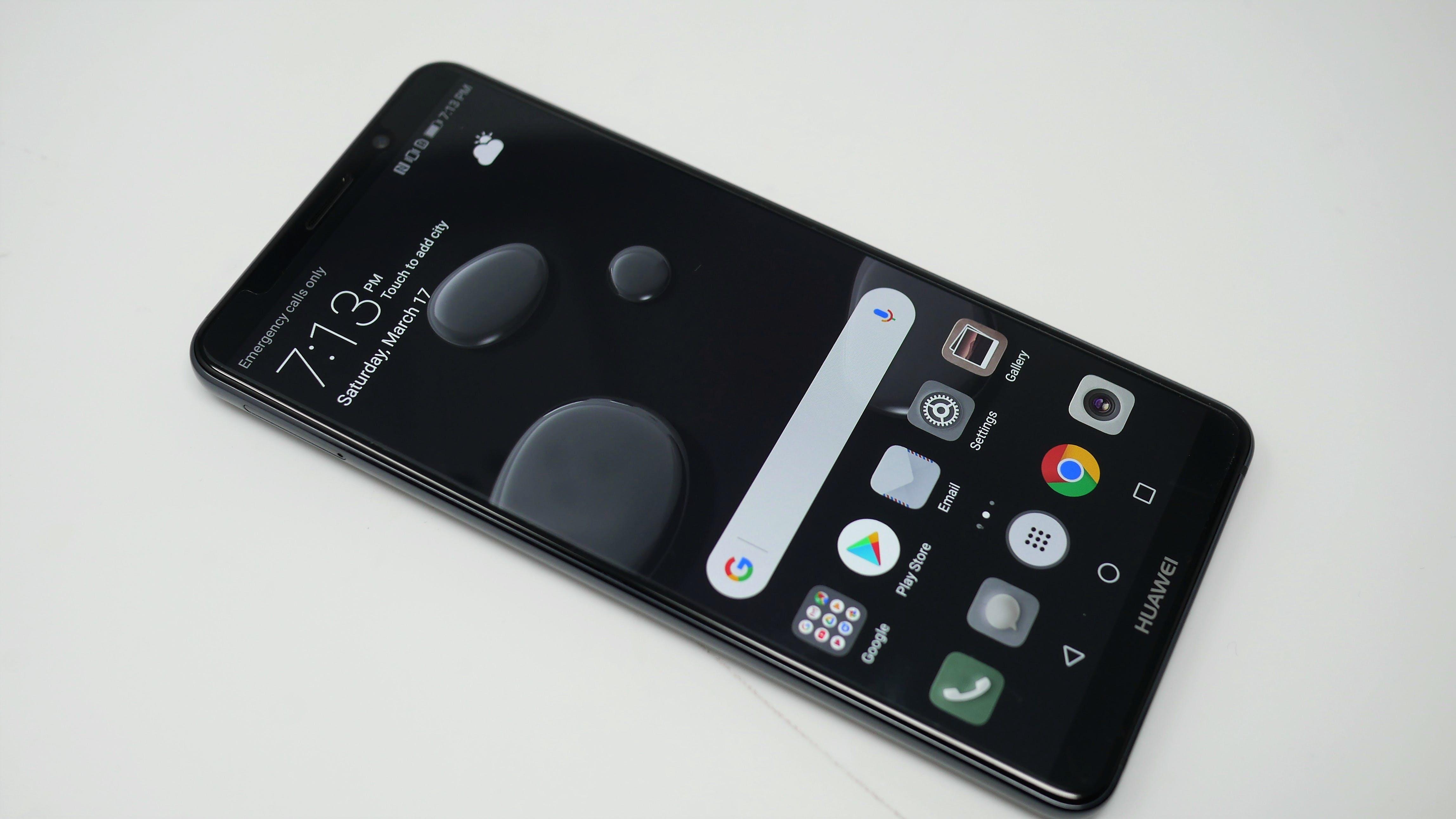 best phones 2018 - Huawei Mate 10 pro Front display screen