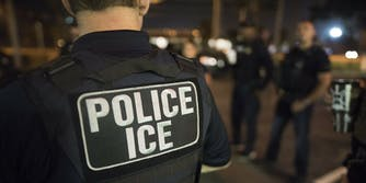 A U.S. Immigration and Customs Enforcement (ICE) officer.