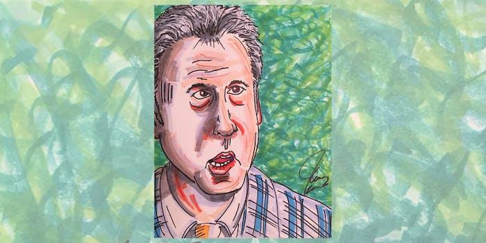 Jim Carrey drawing of Michael Cohen