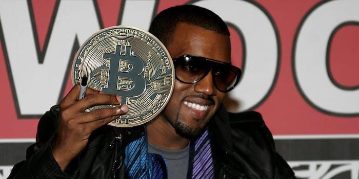 kanye west holding bitcoin