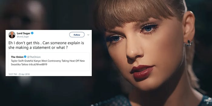 'Onion' Article About Taylor Swift's Face Tattoo Spurs Epic Twitter Thread