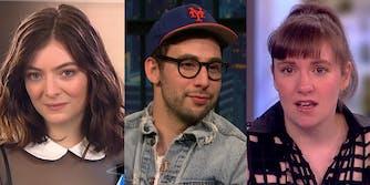 Lorde, Jack Antonoff, and Lena Dunham