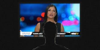 Figure watching NRA TV