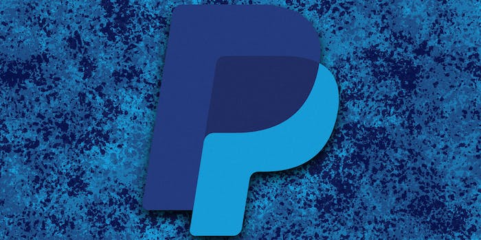 is paypal safe? PayPal logo over spatter background