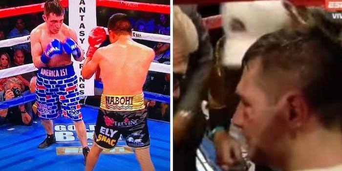Rod Salka vs. Francisco Vargas wall trunks