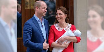 Duke and Duchess of Cambridge with their new son