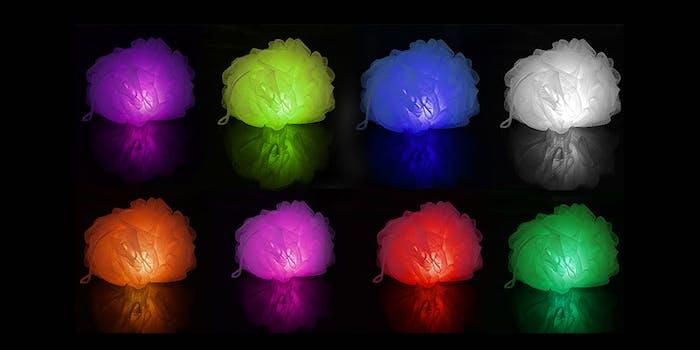 light-up loofah