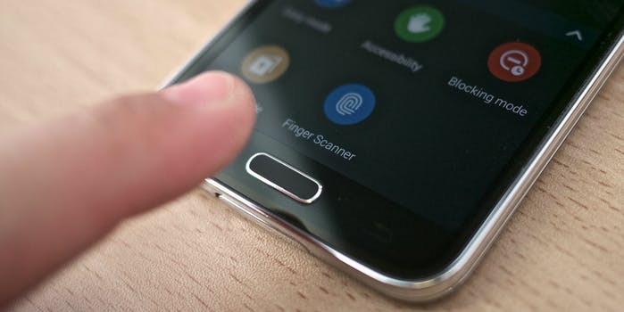 smartphone phone fingerprint sensor scanner