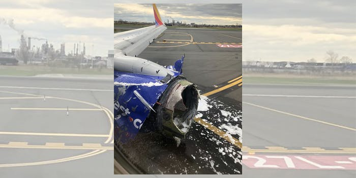 Southwest airline engine emergency landing