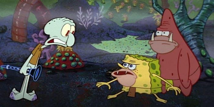 Spongebob meme cavemen
