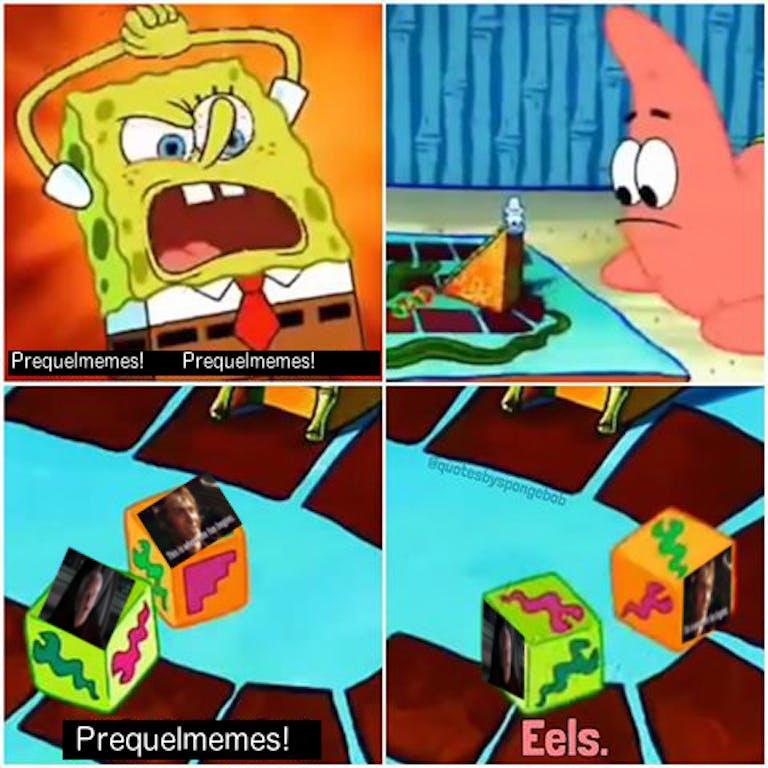 spongebob eels prequelmemes meme