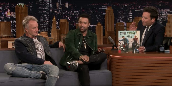 sting and shaggy tonight show