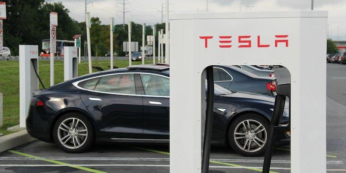 tesla charging station battery supercharger