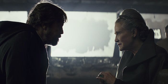 Luke and Leia Skywalker from Star Wars: The Last Jedi