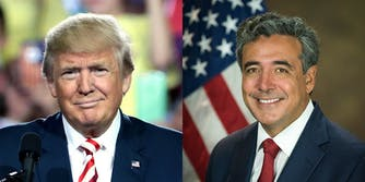 President Donald Trump and Solicitor General of the United States Noel Francisco.