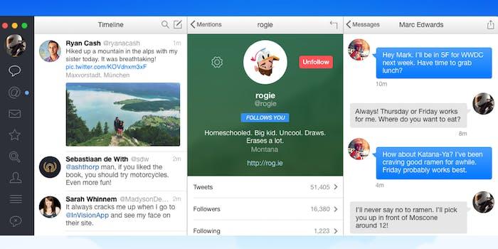 Tapbots Tweetbot for Mac screen grab