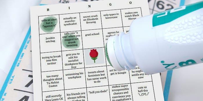 Marking a Twitter Bingo card
