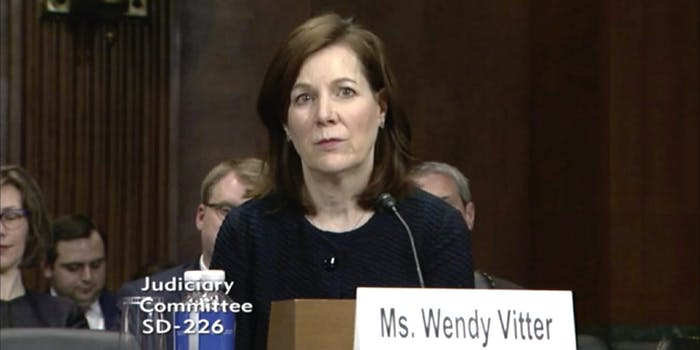 Wendy Vitter, President Donald Trump's nominee for a district court in eastern Louisiana.