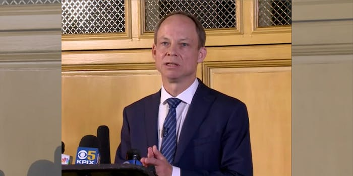 Judge Aaron Persky, who is up for a recall vote in June.