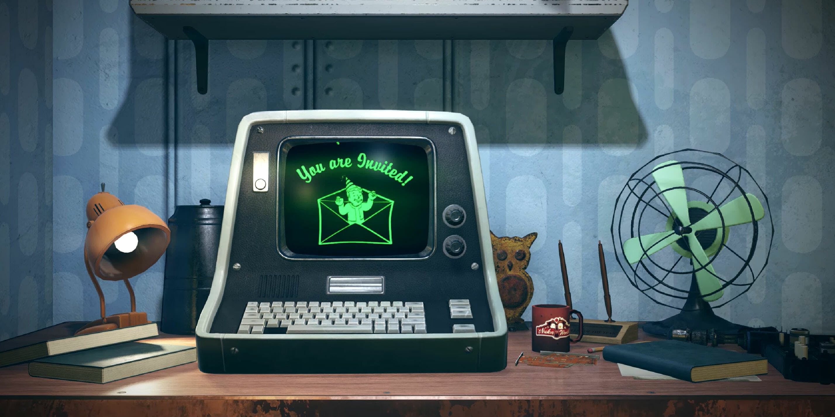 Fallout 76 trailer : Computer reading 'You are invited'