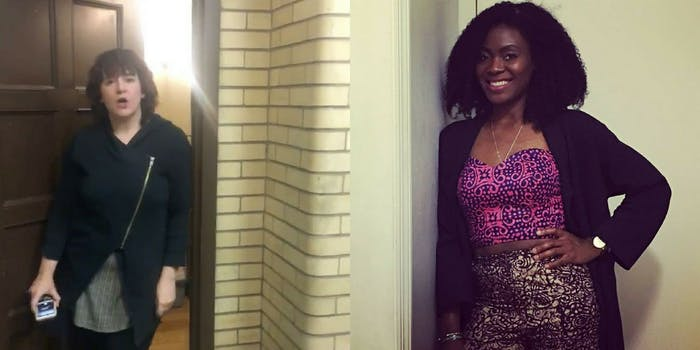 Lolade Siyonbola and another Yale student who called the cops on her for sleeping in a commons room.