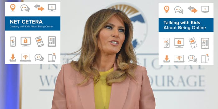 There are some similarities between Melania Trump's 'Be Best' pamphlet and one released in 2014 by the FTC.