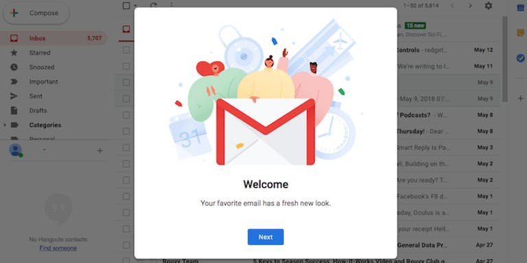 how to setup gmail offline mode - New Gmail welcome image