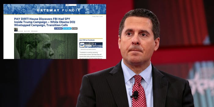 Right wing websites and personalities online are fretting over a 'secret intelligence source' that the intelligence communities don't want Rep. Devin Nunes to know about.