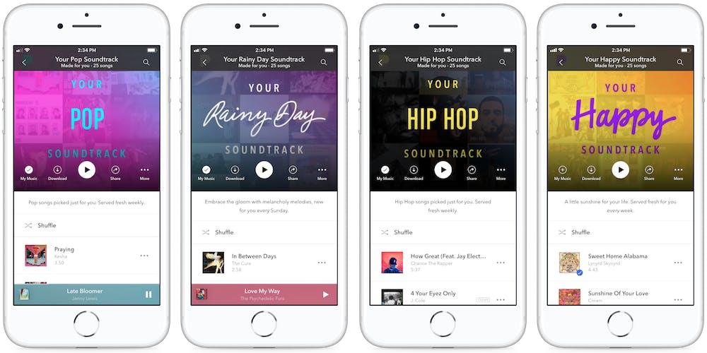Pandora personal soundtracks on iPhone