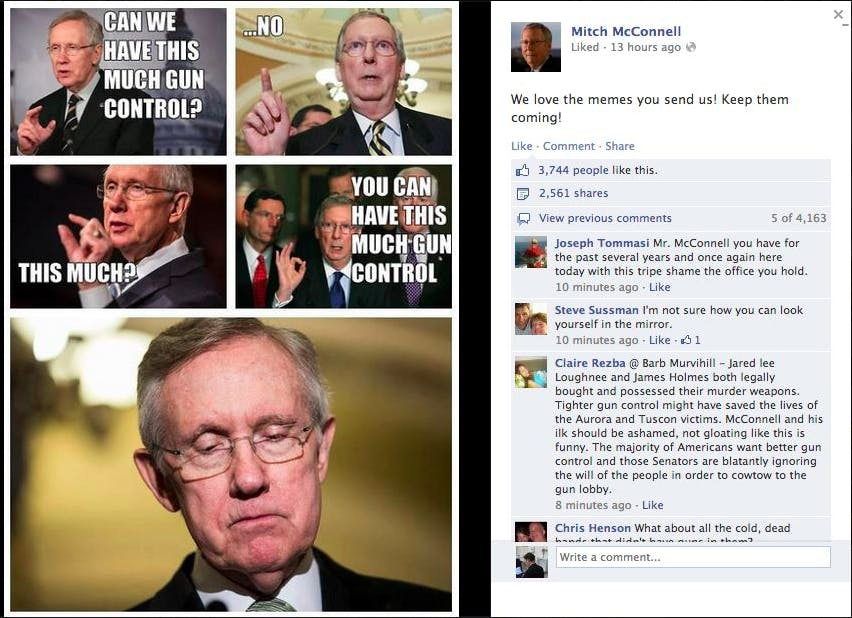 mitch mcconnell social media