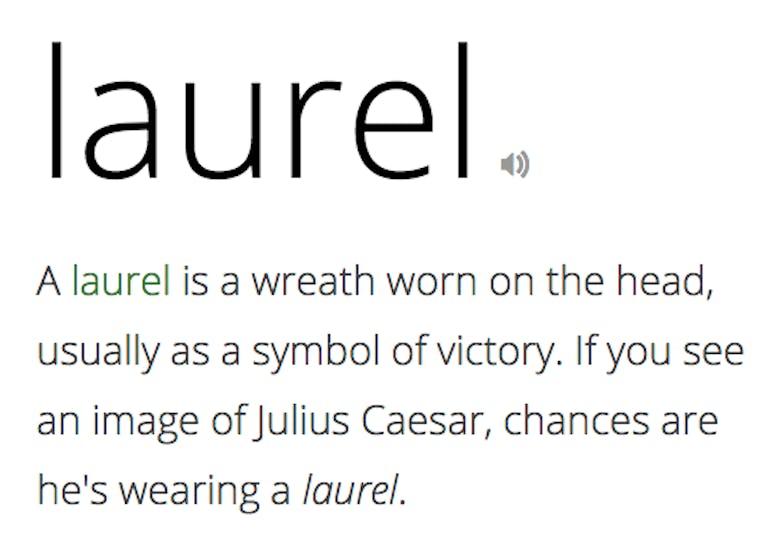 laurel_vocabulary