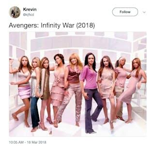 Infinity War Crossover Meme