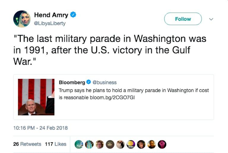 trump military parade