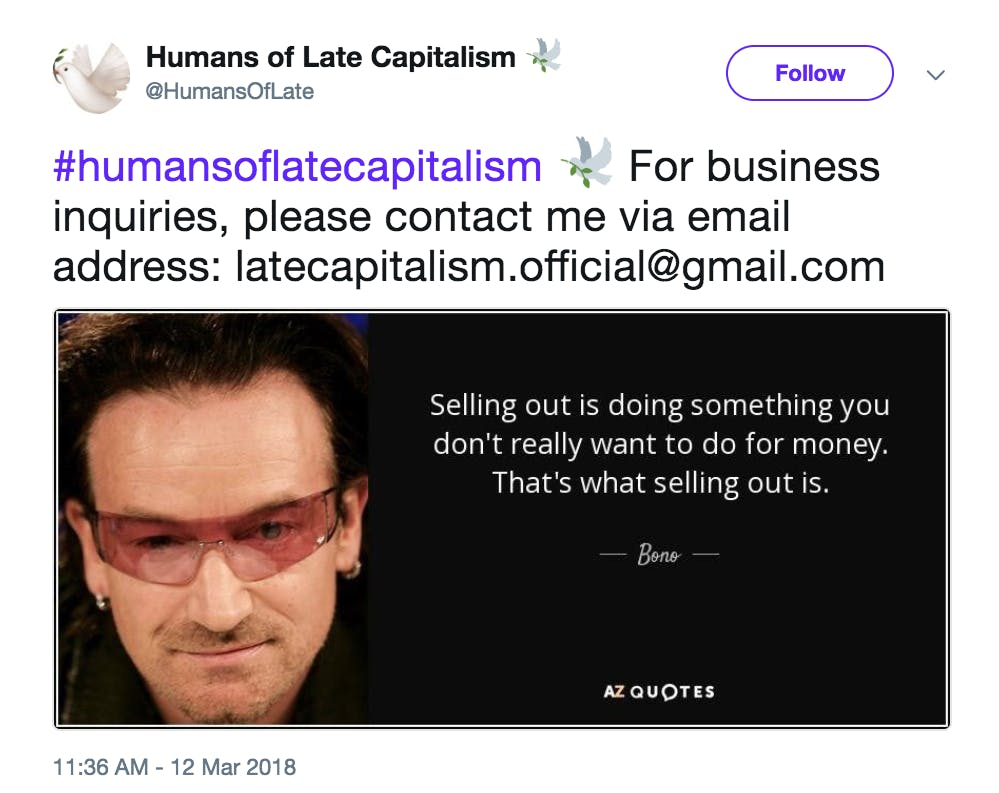 Humans of Late Capitalism Twitter