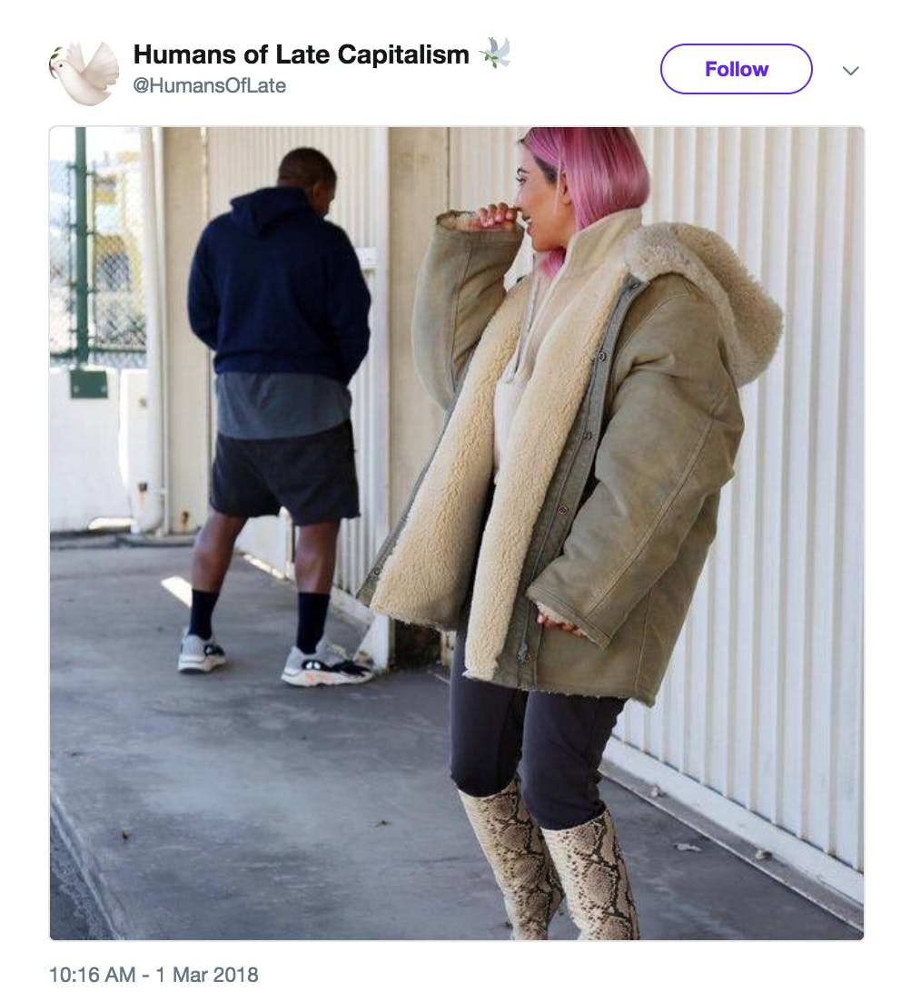 Humans of Late Capitalism Kanye West