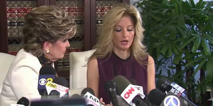 Summer Zervos and her lawyer Glorida Allred when Zervos came forward with accounts of sexual assault against President Donald Trump.