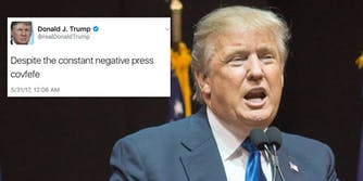 It's the one year anniversary of Trump's covfefe tweet. People are calling it Covfefe Day.