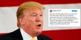 President Donald Trump weighed into the conversation on Wednesday afternoon surrounding ABC's cancellation of Roseanne Barr's show–but not in the way you'd probably expect.