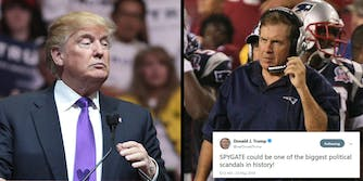 President Donald Trump called what he perceives as a scandal involving a 'spy' in his presidential campaign 'SPYGATE' on Wednesday, but Twitter quickly pointed out that nickname was taken by the NFL in 2007.