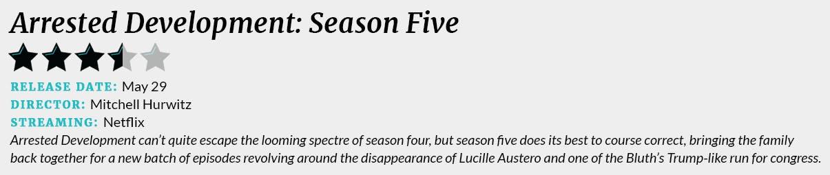 arrested development season 5 review box