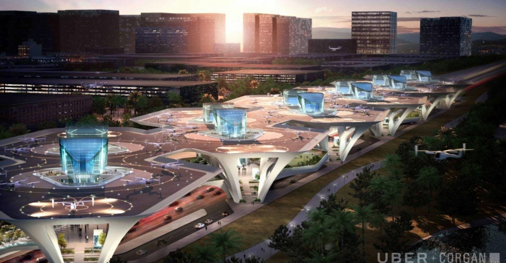 uber elevate flying cars skyport