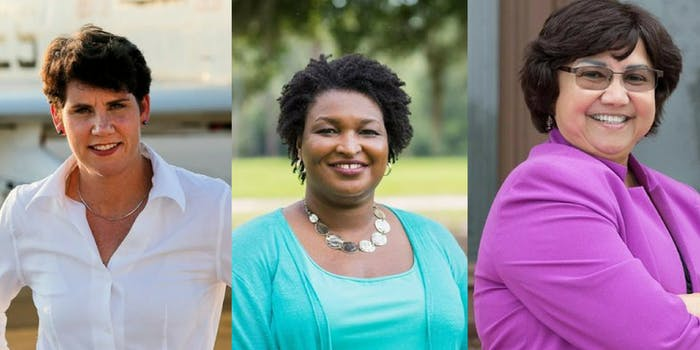 Amy McGrath, Stacey Abrams, and Lupe Valdez