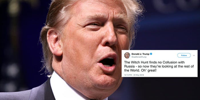 White House aides intentionally add errors to Trump's tweets, a new report says.
