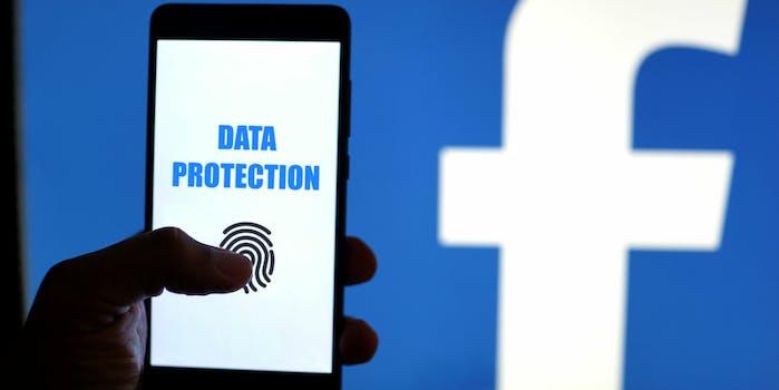 facebook data protection smartphone biometrics