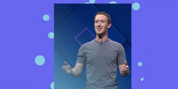Mark Zuckerberg onstage at F8