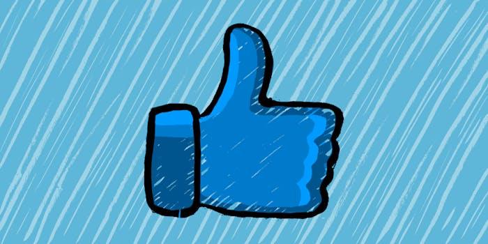 facebook logo in rain
