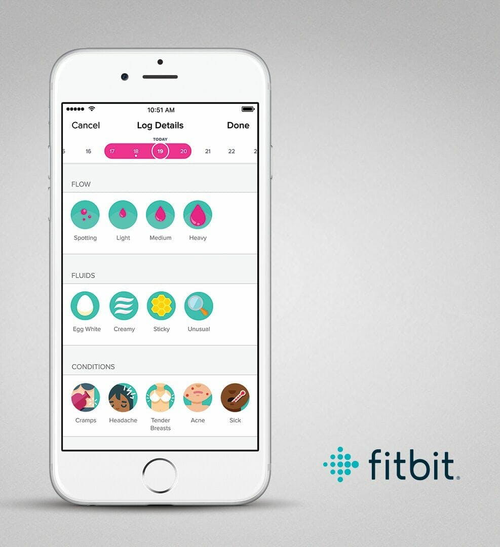 Fitbit period tracking on iOS