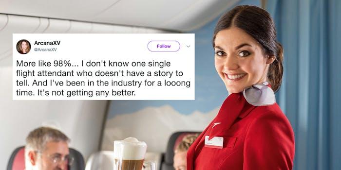 flight attendant sexual harrassment tweet