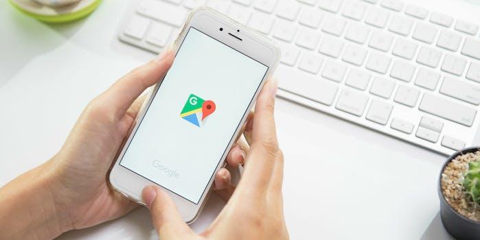 google maps app smartphone